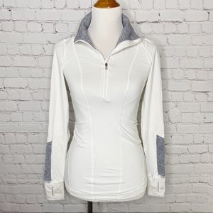 Lululemon Mind Over Matter Pullover White Grey 4